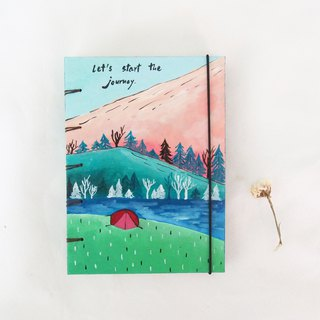 I love nature and freshness., Notebook Painting  Handmadenotebook Diary 筆記本