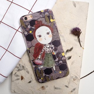 Miss Buns / illustration design / original phone shell protective shell iPhone (i6s, i6splus, i7.i7plus) fashion retro pattern of all soft-shell / Valentine's Day gift