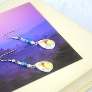 Luxury Look Swarovski Crystal AB Beads Earrings