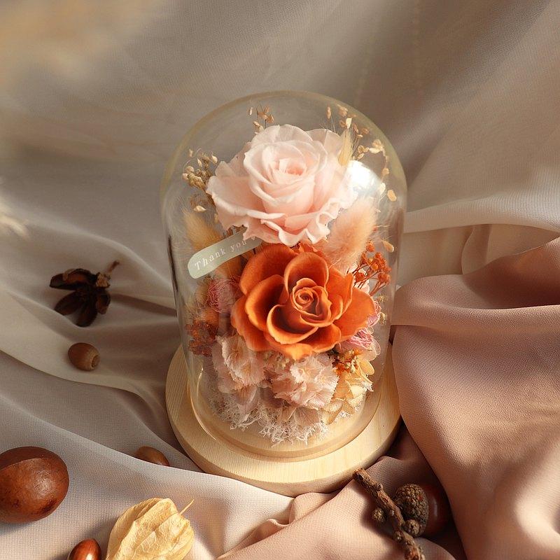 永生花小玻璃罩 玻璃鍾罩 玻璃盅 乾燥花禮 客製化