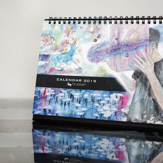 2019 Taiwan calendar pre-ordered watercolor skin loyalty
