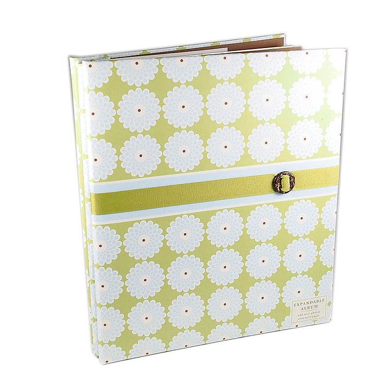 Can add acid-free pages / blue daisy garden
