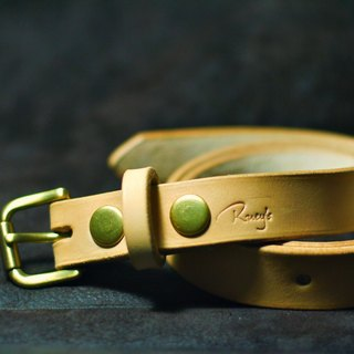 Full version narrow version of fine handmade Italian imports of all primary plant tanning leather belt