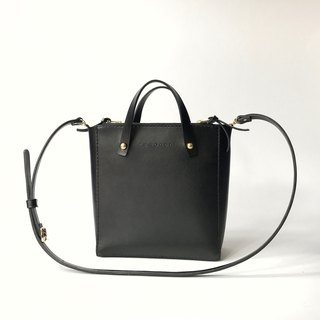 Zemoneni ladies carry bag with 2 sides partition zipper opening.