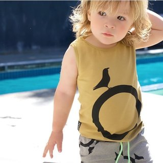 Nordic organic cotton children's circle vest yellow
