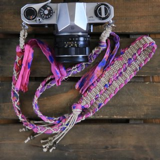 Tie Dye Dyed Surrey Ribbon hemp string hemp camera strap / belt