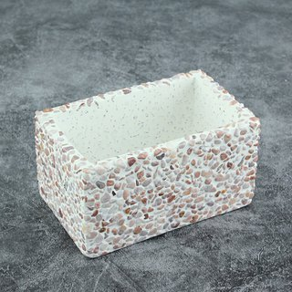 Cement Products - Rectangular Basin - Succulent Pots - Rose Rhodolite - 11.5cm x 7cm x 6.5cm
