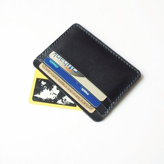Credit Card Wallet/ Card Organiser in Black Leather (Rounded Corner)