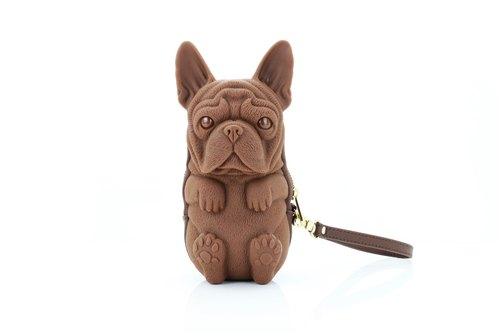 Adamo 3D Bag Original French Bulldog Clutch with Strap