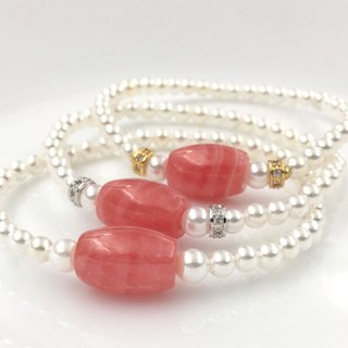 High quality ice red stone bead bracelet