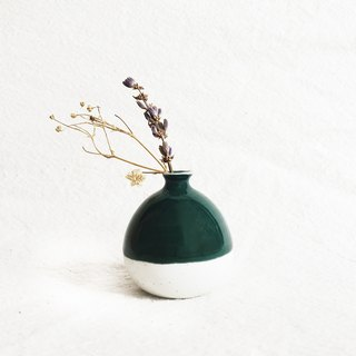 Handmade Ceramic Mini Vase - Forest Green