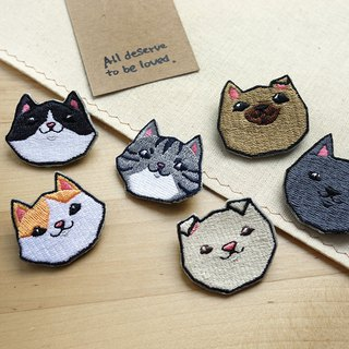 Formosan Dogs & Cats Embroidered Pins-6 in 1