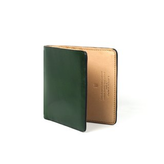 Square bifold wallet /Moss GREEN