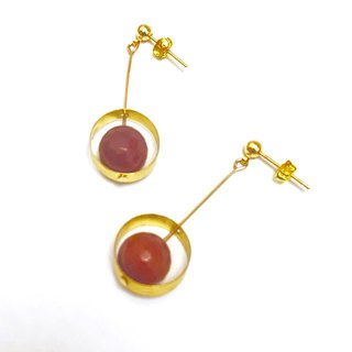 Orange Crystal Earrings 14k