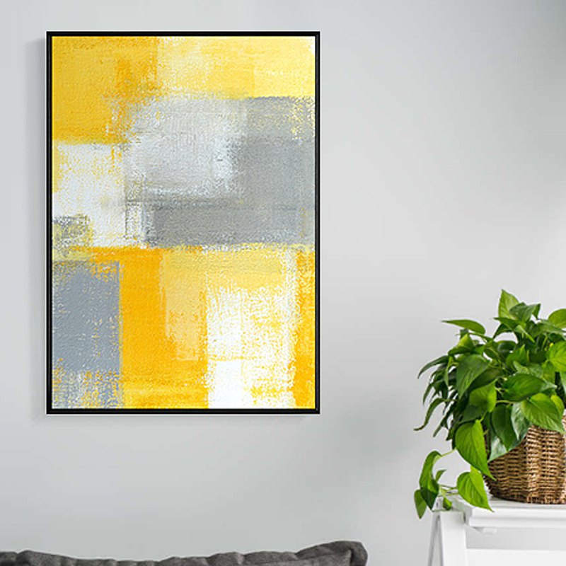Bright summer IV-Abstraction, Wall Art, Home Decor, Layout, Decoration, Yellow