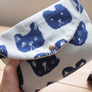 [Cat] hand made cosmetic bag storage bag storage bag Nordic style color
