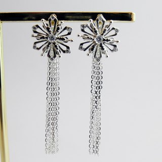 zo.craft Crystal Diamond Snowflake Detachable / Earrings / Sterling Silver