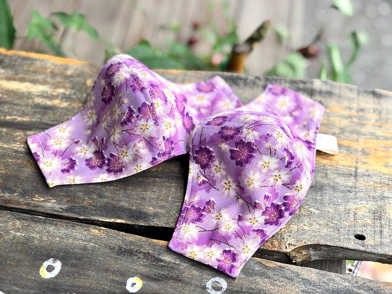 粉紫 櫻花盛開 立體布口罩