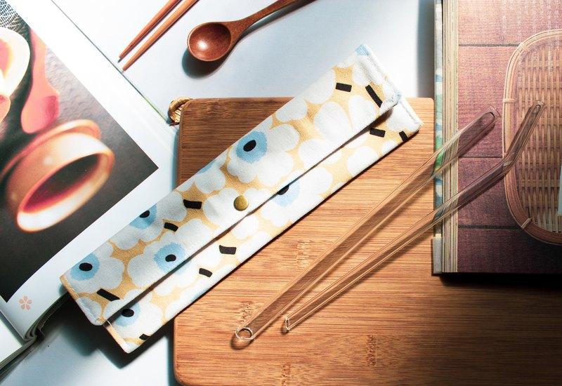 花樣年華系列(黃褐) - 吸管收納袋 / 餐具收納袋