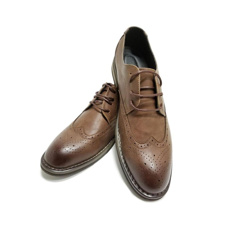 Kings Collection Wilbert Leather Shoes KG80019 Brown