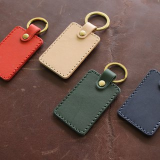 [New listing] leather key ring | square four color | can purchase laser lettering