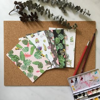 Assorted Botanicals and Succulents Pattern Art Note Cards Postcards Set