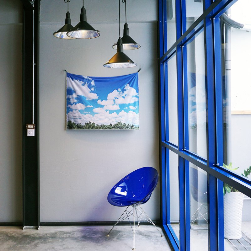 免費訂製你的專屬壁幔 家飾 布幔 BM03 藍天白雲 Wall Tapestry