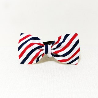 Ella Wang Design Bowtie Pet Bowknot Cat Dog Red Blue White Stripe Gentleman