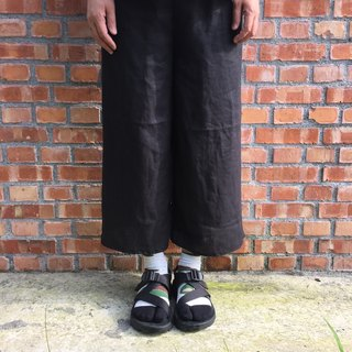 Pure linen Tokyo black simple eighty-nine pants strict selection of 20 color linen