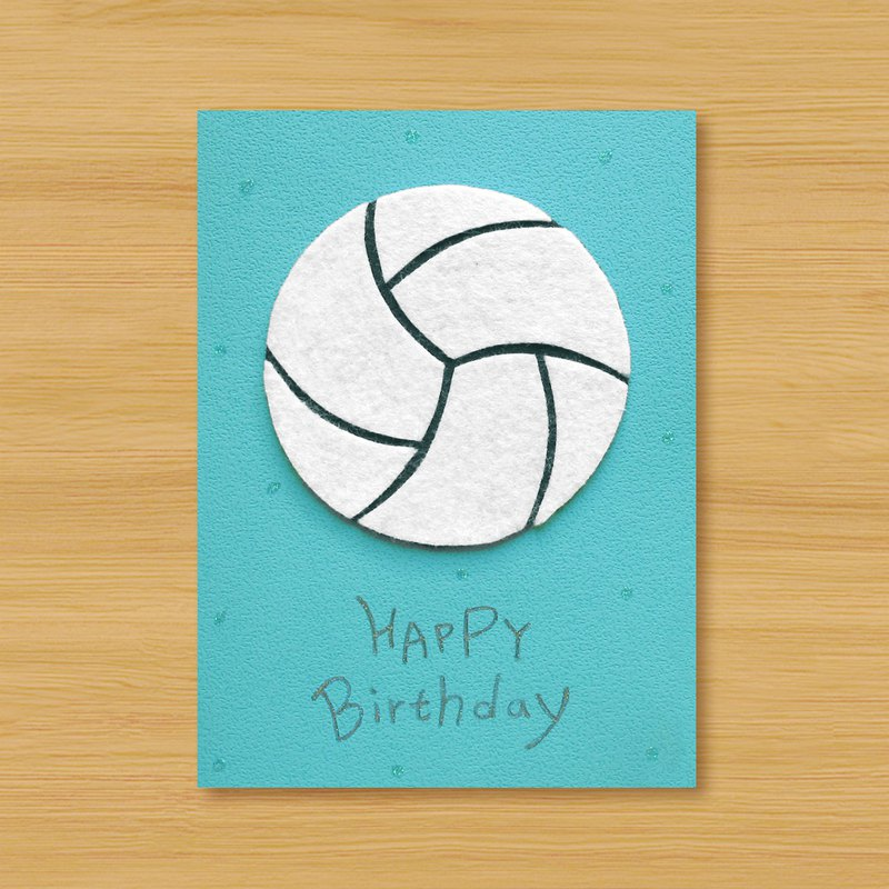 Handmade card _ warm blood volleyball birthday card..... thank you card, lover card, universal card