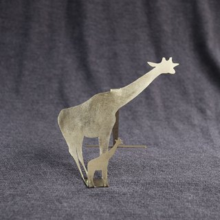 Ni.kou brass animal shadow business card holder - giraffe