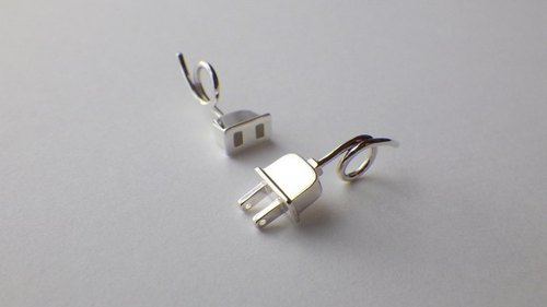 "White Day "" Plug&Socket Couple's Necklace """