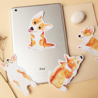 Corgi Dog Luggage Stickers/ Vinyl Sticker/ Welsh Corgi Planner Window Laptop Cel