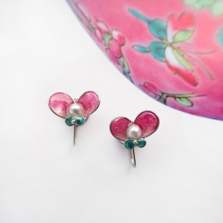 Butterfly in Love with Flowers NO.6 | Handmade stainless steel earring