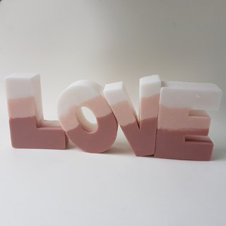"""LOVE"" Essential oil handmade soap"