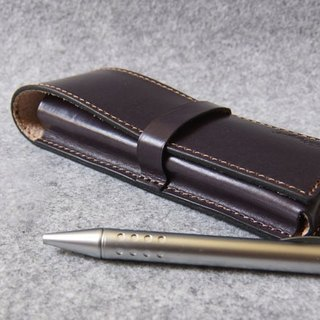 YOURS hand leather leather pencil case 3 into the equipment (for pen LAMY series) gray blue leather
