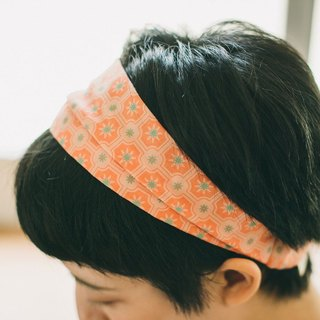 Wide Hair Bando / Old Ceramic Tile No.2 / Peach Pink