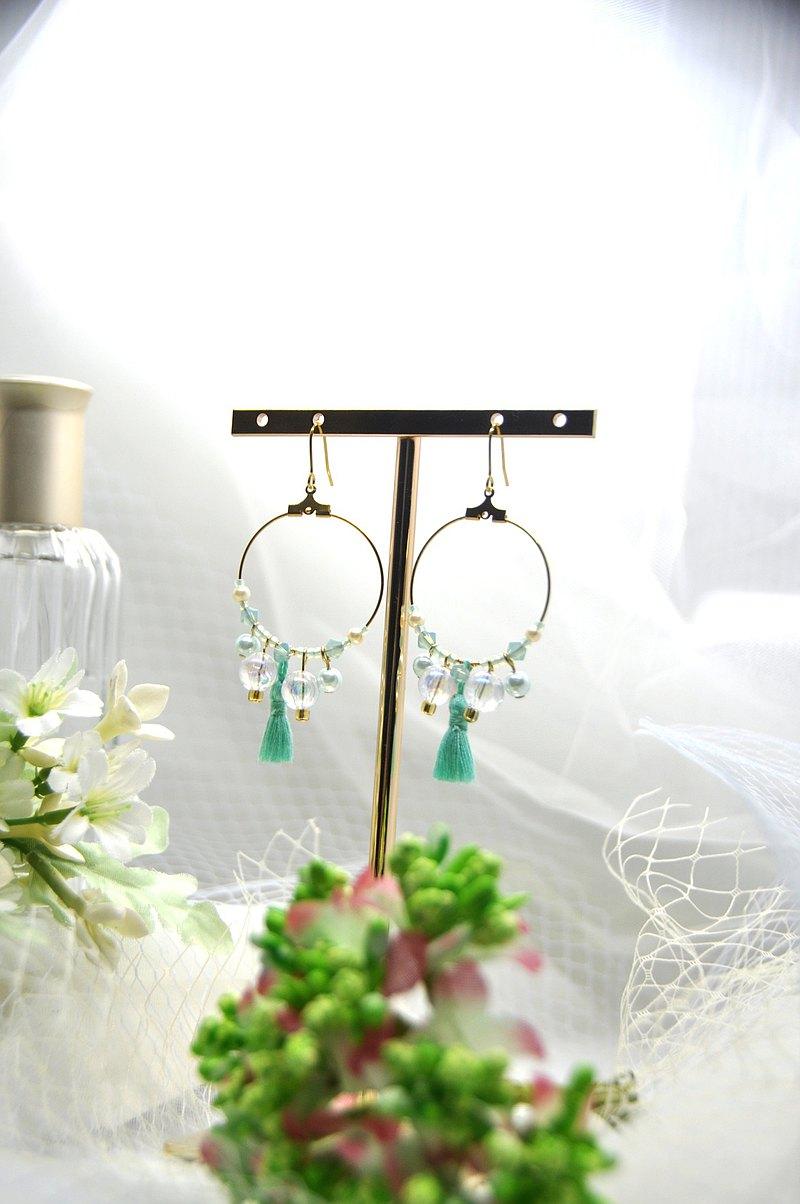 茉莉的假期_茉莉公主的綠/手作耳環 - 設計館 Little Little Handmade - 耳環,耳夾 ...