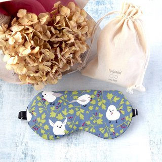 whitebird/sleep mask/with a bag/travel/gift/mask/decollections print