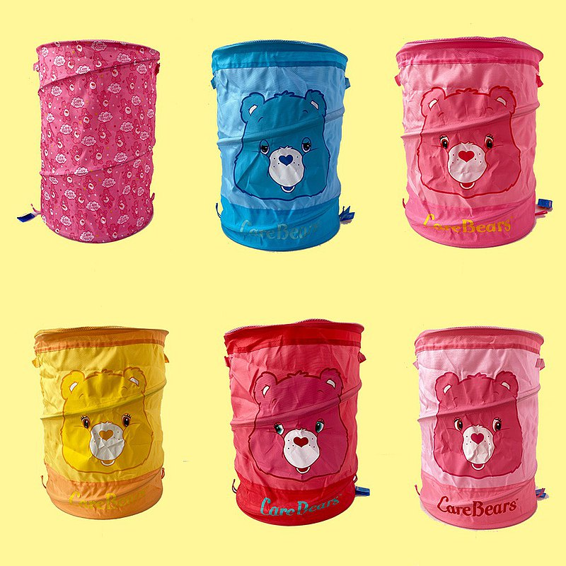 Rainbow Bears Care Bears Genuine License-Large Capacity Collapsible Laundry Basket Storage Basket