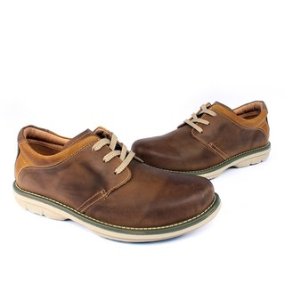 Temple filial piety Functional lightweight Derby shoes coffee