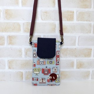 Embroidery Sheep Mobile Bag - Retro Camera (with strap)