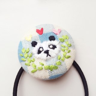 Koko Loves Dessert // youth I sell you - panda embroidery sweet hair ring