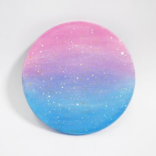 Starry Hand Painted Coaster / Sunset (gradient)