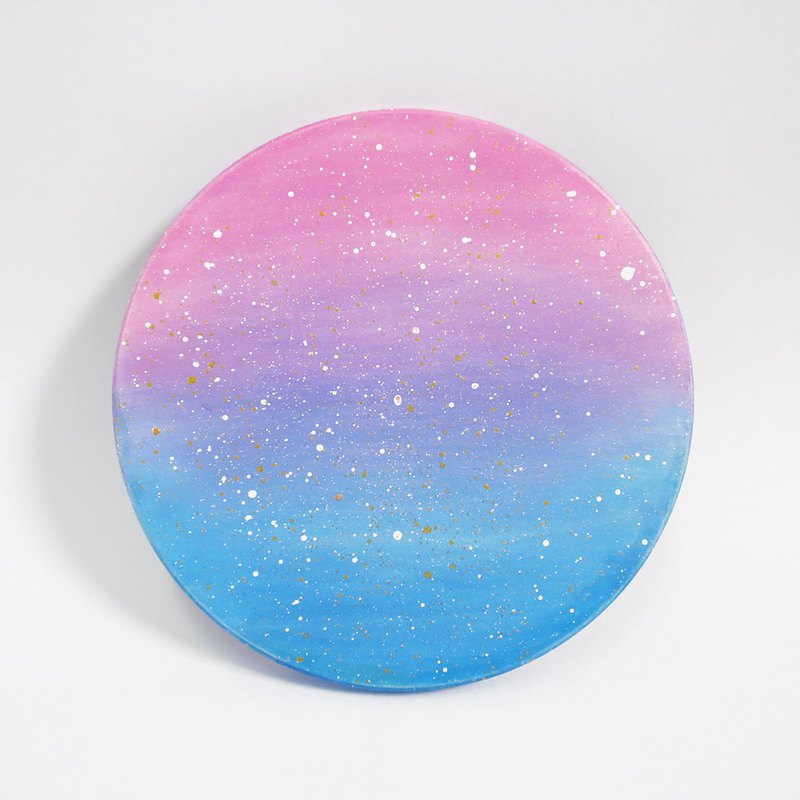 Starry Hand Painted Coaster Sunset Gradient Designer Huai Huai