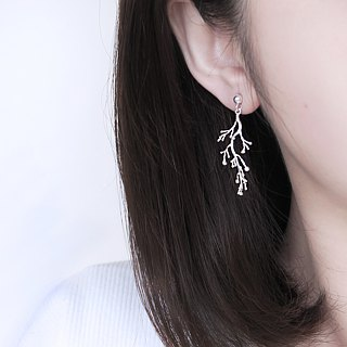 925 Silver Lucky Branching Earrings-Sold Individually