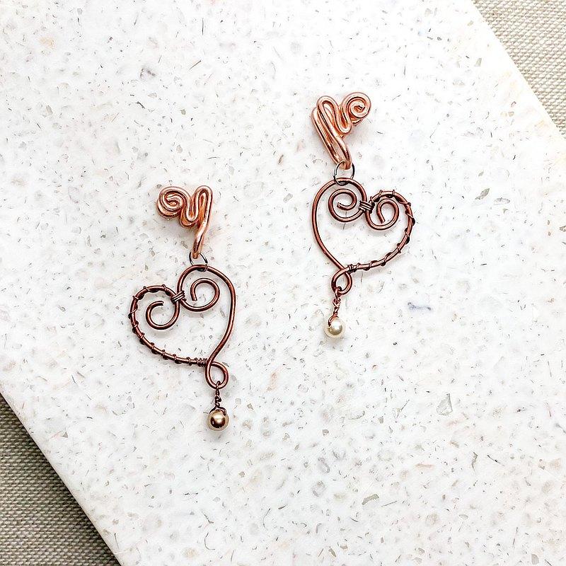 心 | 珍珠 / 古銅色
