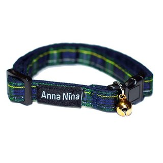 [AnnaNina] Pet Cat Collar Academy Green Tag Collar XS~M