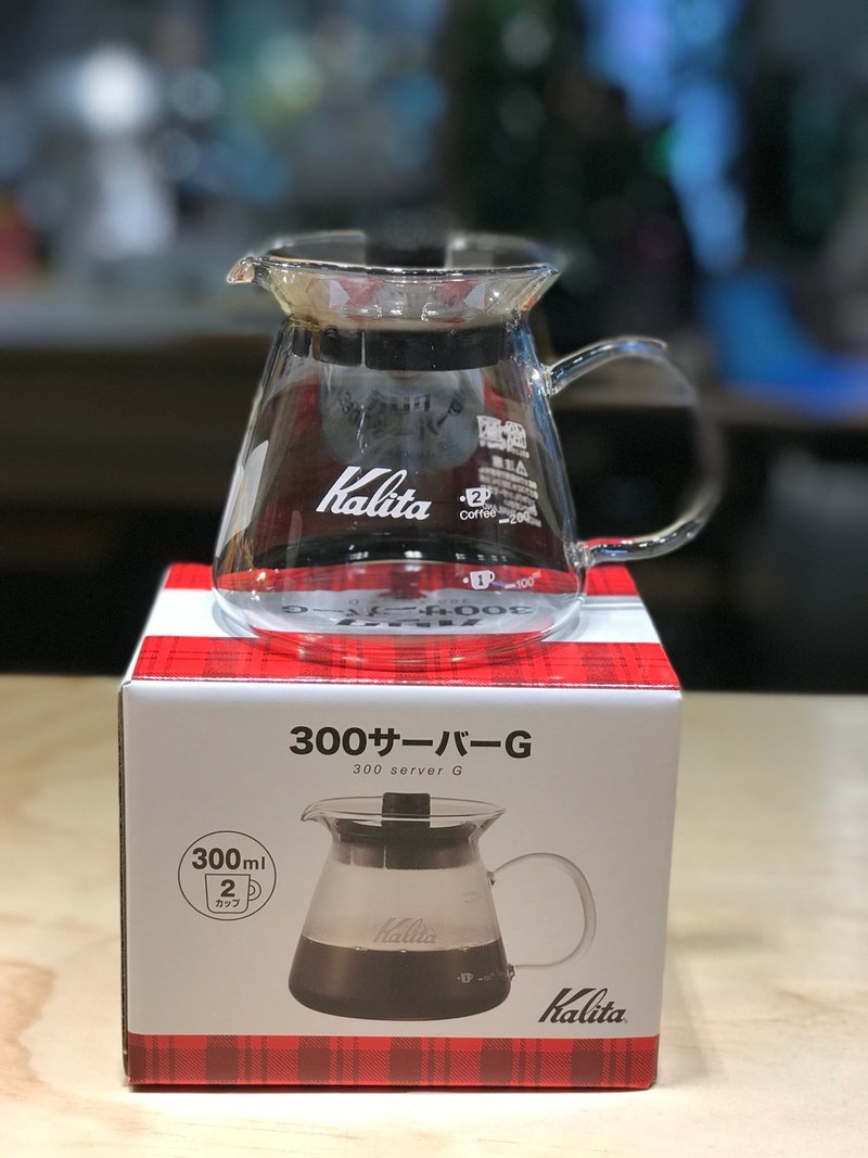 [GOODMAN COFFEE] [Japan] Kalita coffee brewing heat-resistant glass pot (about 300ml)
