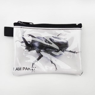| I AM PARTY | handmade canvas leather purse - Beetle [Maijiu brand badges affixed or travel card x1]